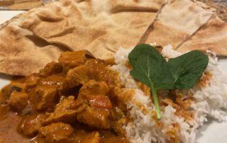 Kycklingcurrygryta med ris